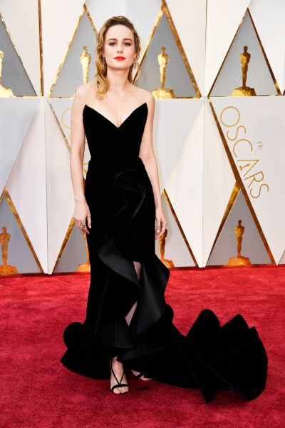 Brie Larson in Oscar de la Renta.