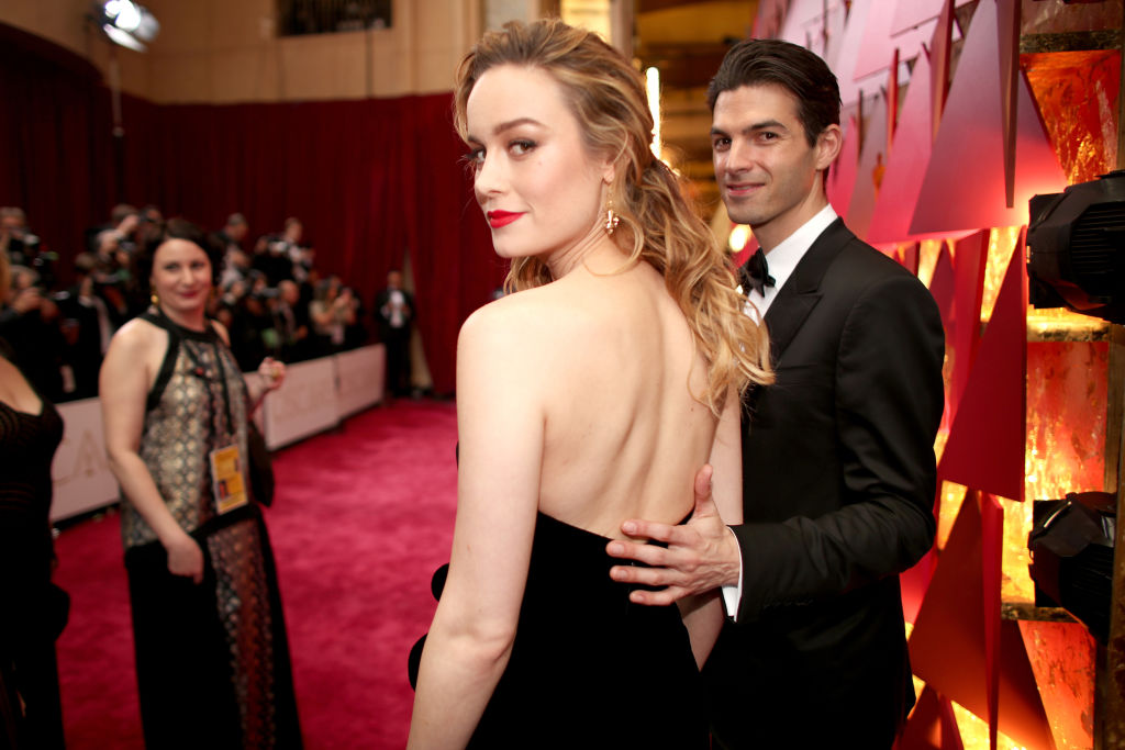 Brie Larson with her fiancé, Alex Greenwald of Phantom Planet.
