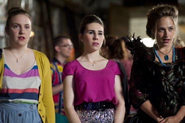 Lena Dunham as Hanna Horvath, Zosia Mamet as Shoshanna Shapiro and Allison Williams as Marnie Michaels.