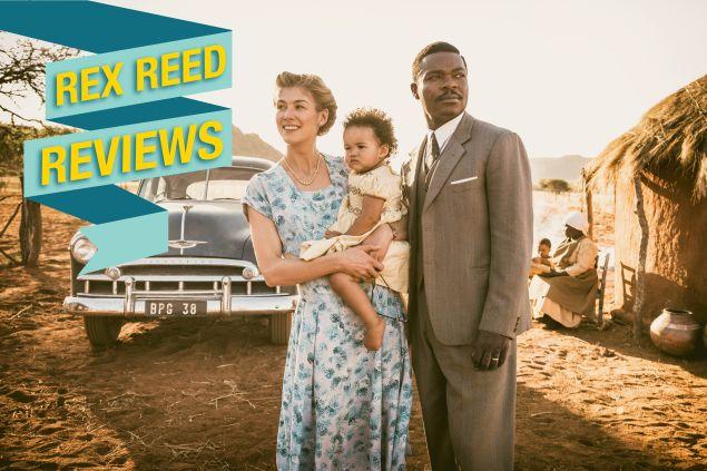 Rosamund Pike as Ruth Williams and David Oyelowo as Seretse Khama.