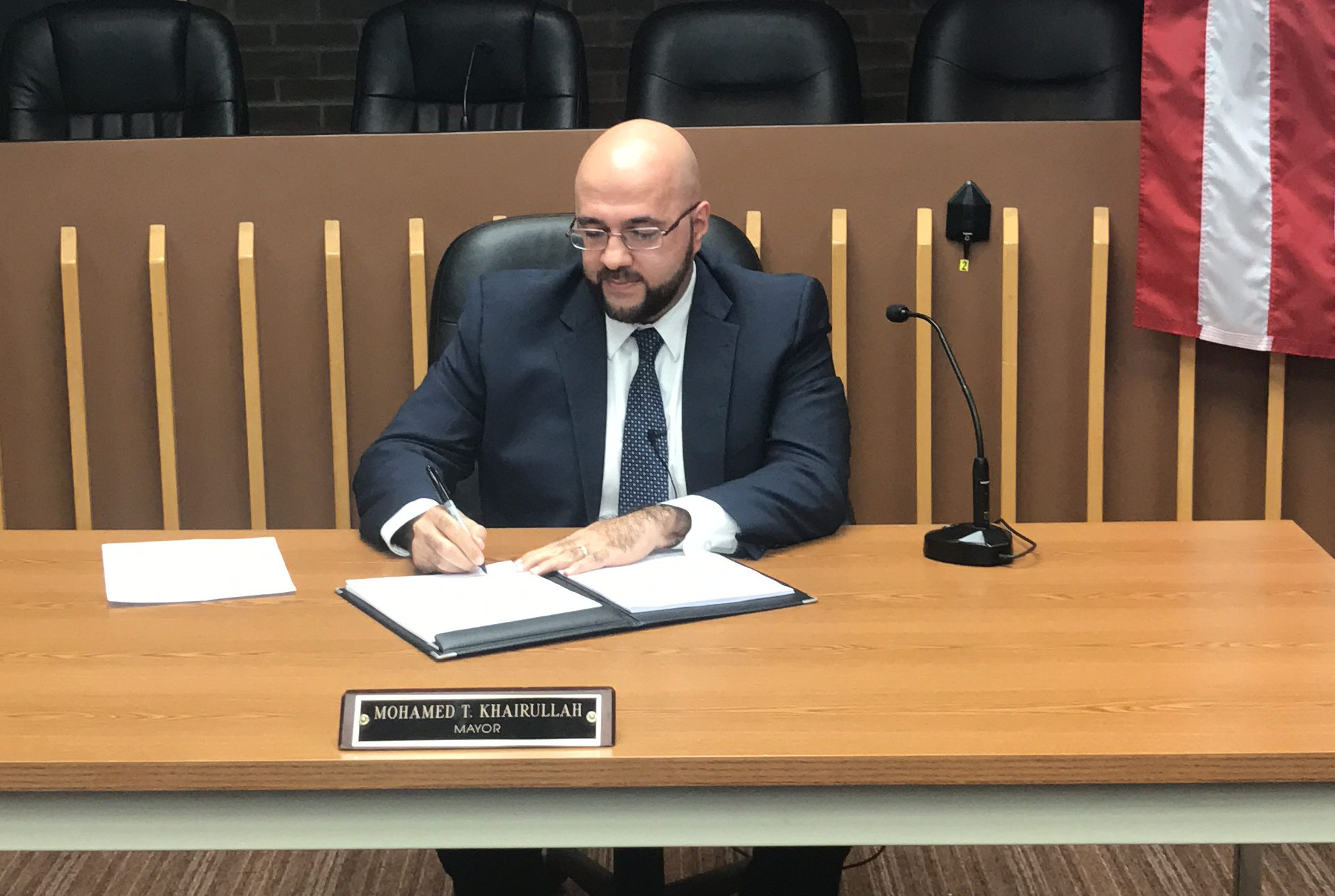 Mayor Khairullah signed Prospect Park's first executive order.