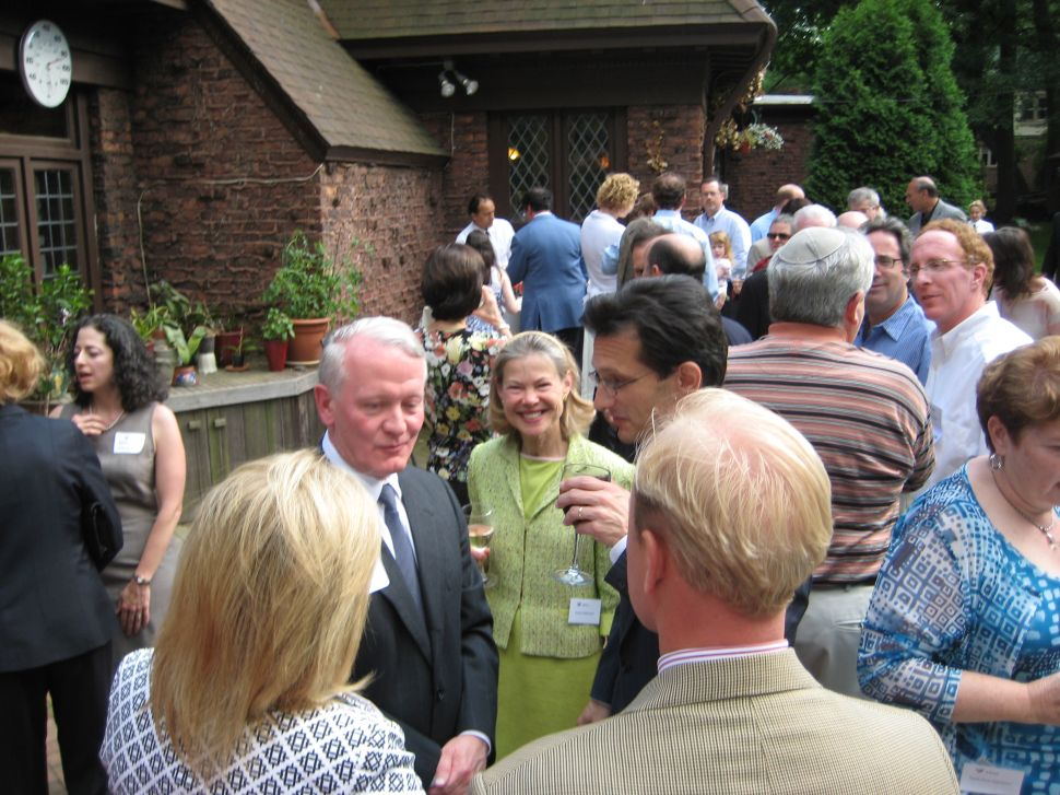 Leonard Lance and his wife Heidi mingle with Eric Cantor in June, 2009.
