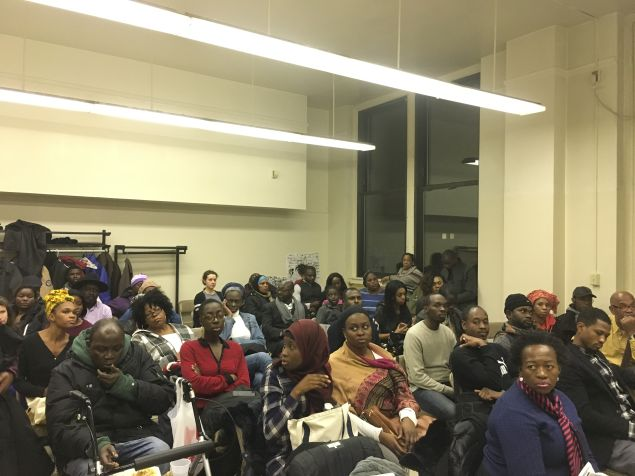 At its monthly membership meeting, African Communities Together discussed Donald Trump's executive orders targeting Muslims and undocumented immigrants.