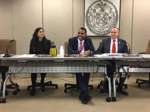 Councilmen Mark Treyger and Ritchie Torres lead joint hearing on NYCHA's Hurricane Sandy recovery efforts at 33 developments in Manhattan, Brooklyn and Queens.