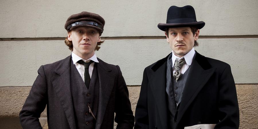 Rupert Grint as August Kubizek and Iwan Rheon as Adolf Hitler.