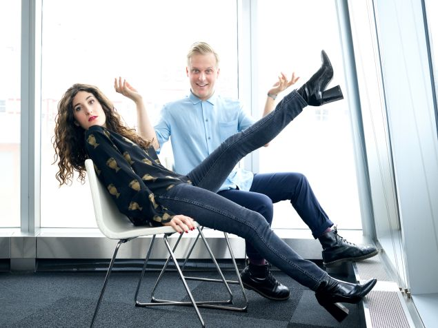 John Early and Kate Berlant of the Vimeo series 555.