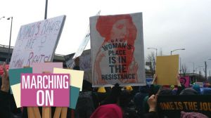 Princess Leia poster at Women's march.