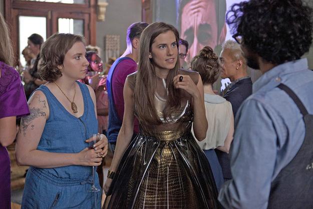 Lena Dunham as Hannah Horvath and Allison Williams as Marnie Michaels.