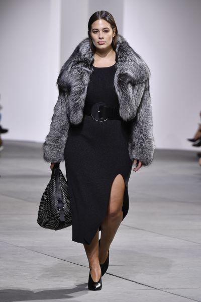 Ashley Graham on the Michael Kors runway.