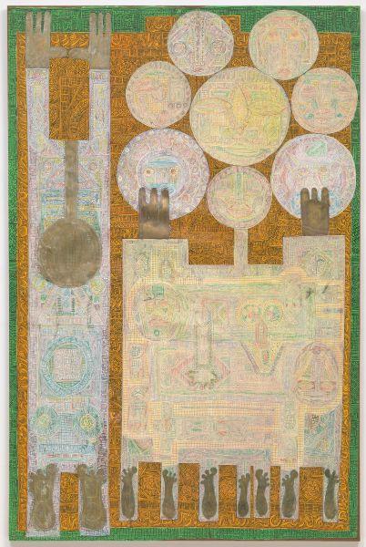 Charles Hossein Zenderoudi (Iranian, born 1937) K+L+32+H+4.