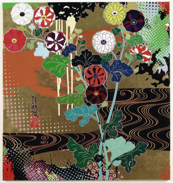 Takashi Murakami, Kansei Gold, 2008.