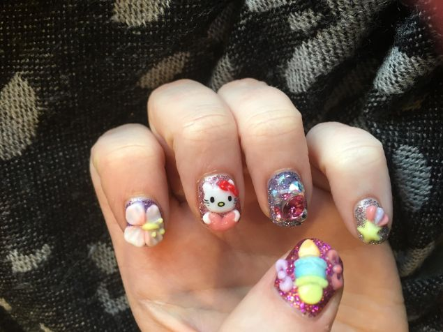 The author's over-the-top nails.