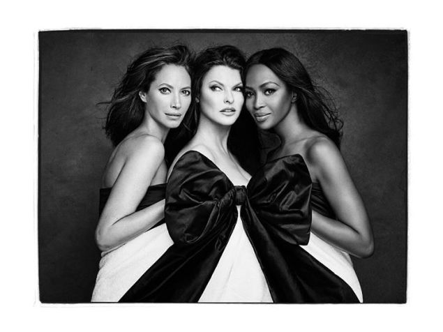 Christy Turlington, Linda Evangelista, and Naomi Campbell reunited as the Trifecta.