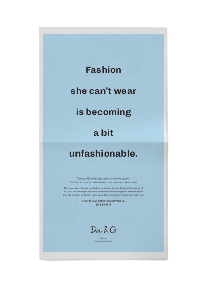Dia & Co's ad in The New York Times.