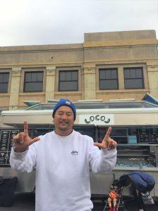 Roy Choi reps Locol at Smorgasburg.