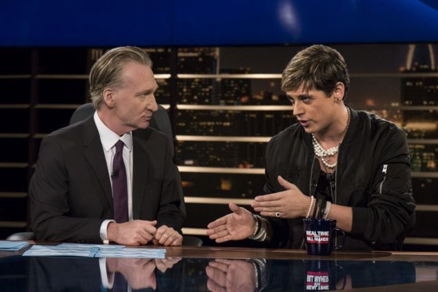 Bill Maher and Milo Yiannopoulos.