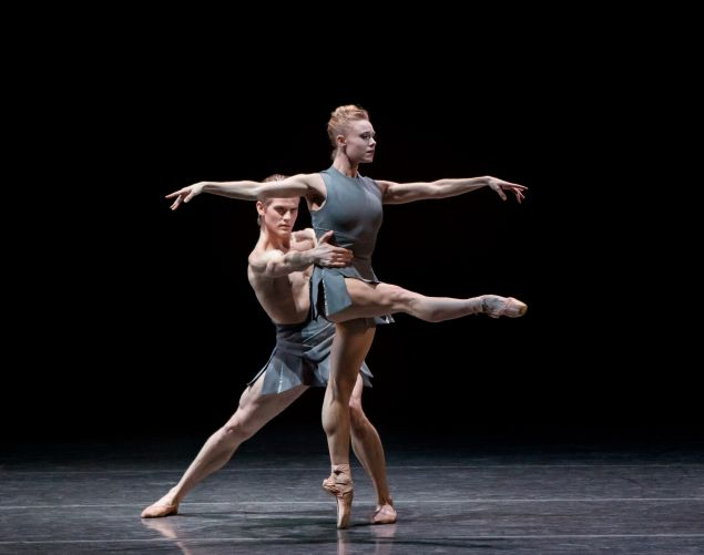 Chase Finlay and Sara Mearns in The Shimmering Asphalt.