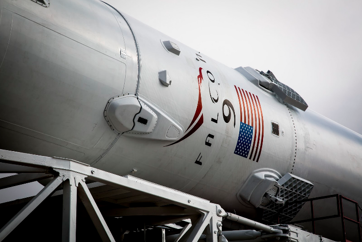 A SpaceX Falcon 9 rocket.