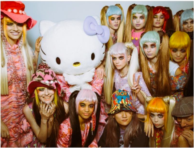 Ryan Lo's collaboration with Hello Kitty at LFW