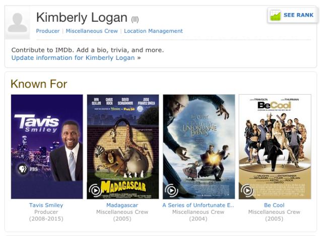 Kimberly Logan's IMBD