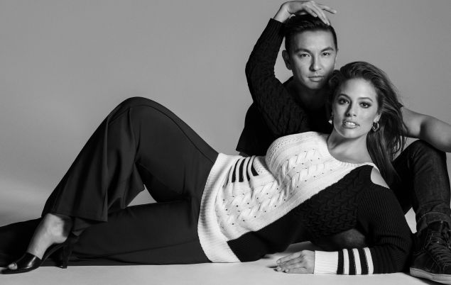 Graham poses with Gurung in the Lane Bryant campaign.