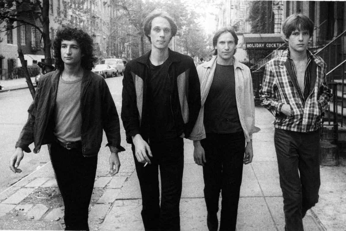 Television, St.Marks Place NYC 1977 L to R: Billy Ficca, Tom Verlaine, Fred Smith, Richard Lloyd
