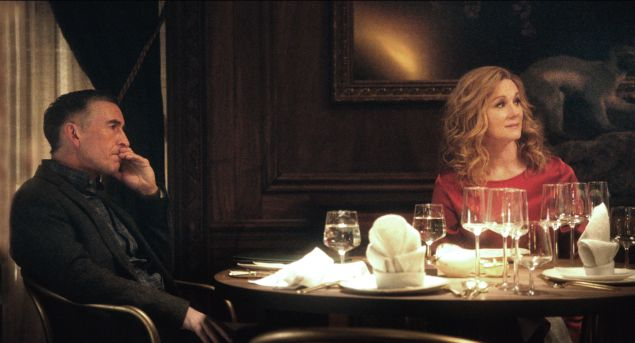 Steve Coogan and Rebecca Hall in The Dinner.