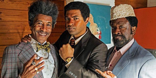 Danny John-Jules as Don King, Noel Clarke as Muhammad Ali and Lucian Msamati as Jabir Herbert Muhammad.