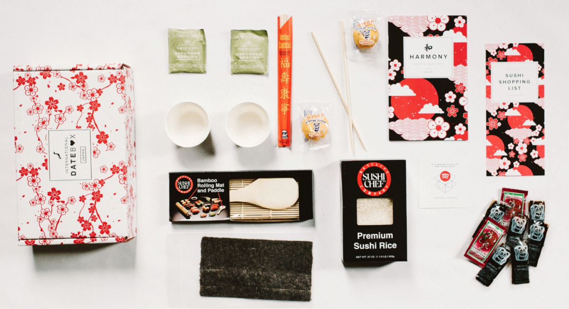 Datebox offers everything from sushi making to dance classes in a box.