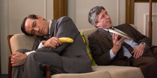 Ben Caplin as Cary Grant and Aidan Gillen as Timothy Leary.