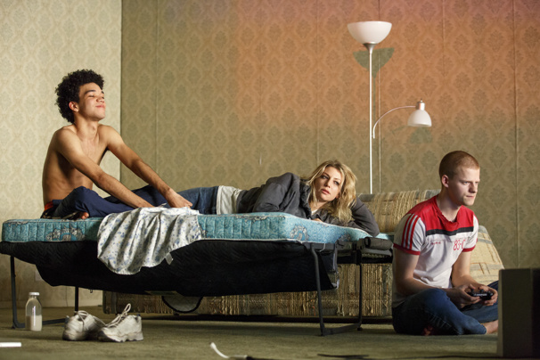 Justice Smith, Ari Graynor and Lucas Hedges in Yen.