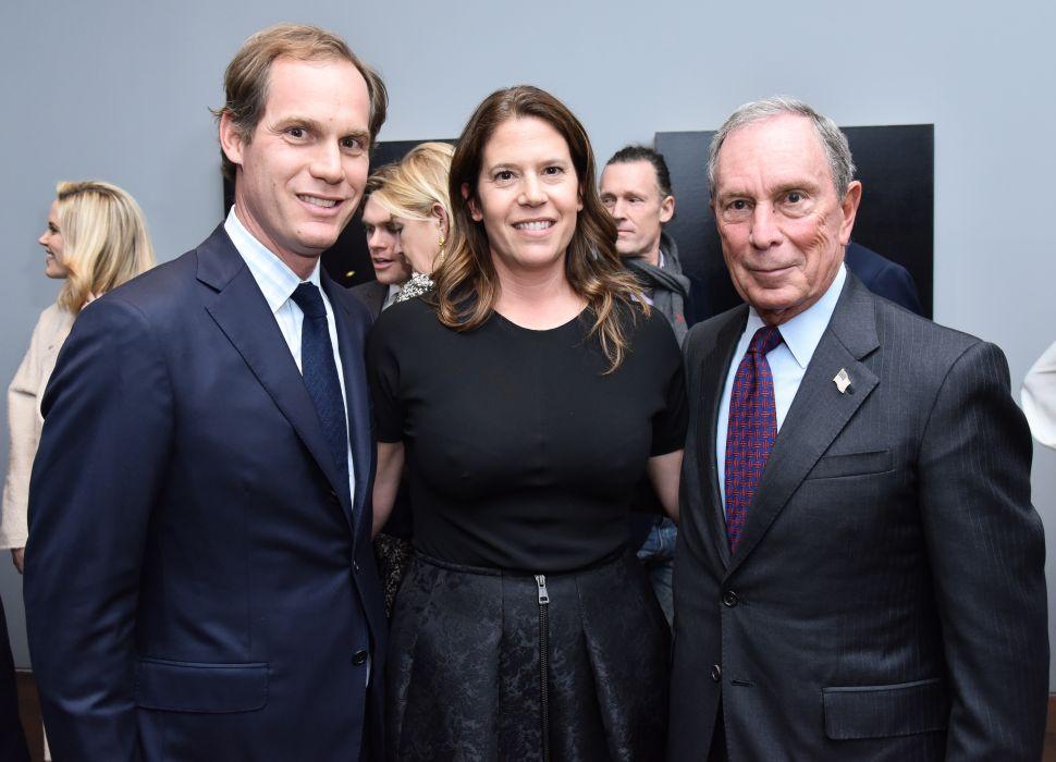 Nick Acquavella, Eleanor Acquavella, Michael Bloomberg.