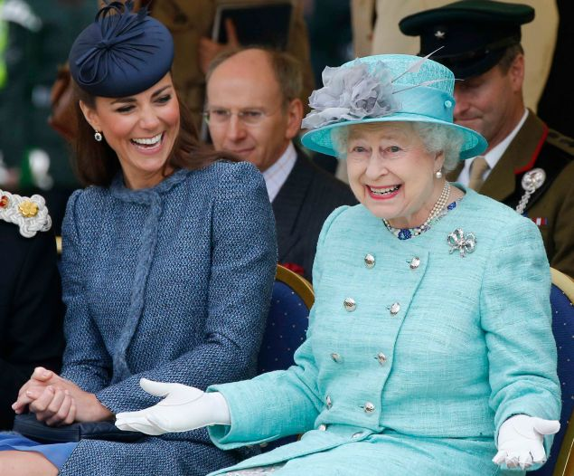 Perhaps Kate Middleton and Queen Elizabeth II are sharing design tips with each other.