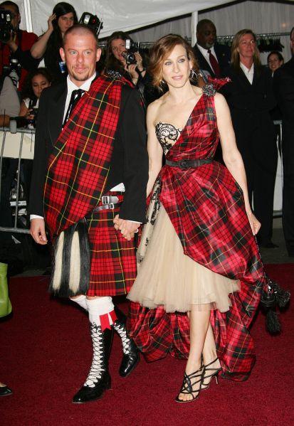 Alexander McQueen and Sarah Jessica Parker.