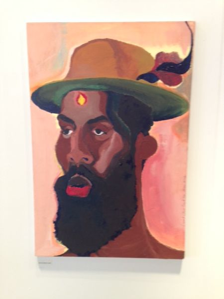 A painting by Derrick Alexis Coard, shown by White Columns.
