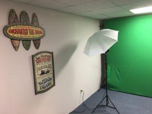 The new video studio, still under construction.