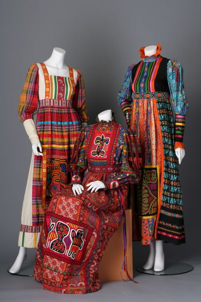 Patchwork dresses by Yvonne Porcella
