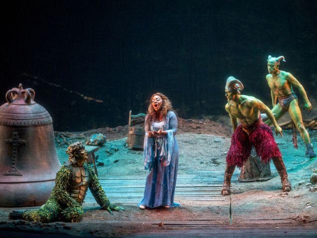 Rautendelein (Brandie Sutton) and the creatures of the forest in 'La Campana Sommersa'.