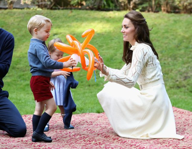 Prince George and Kate Middleton.