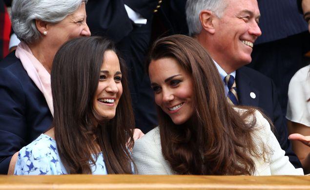 Pippa Middleton and Kate Middleton.