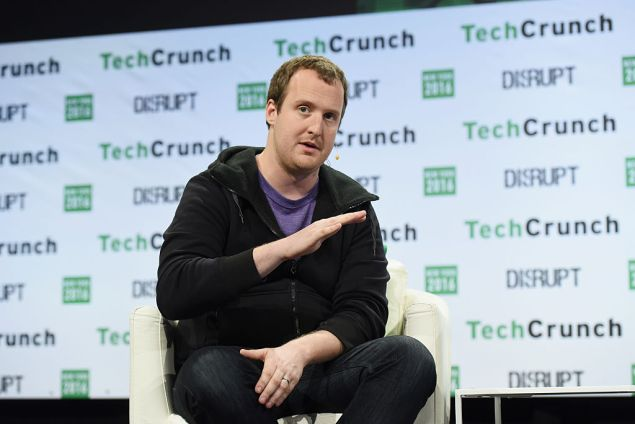 NEW YORK, NY - MAY 11: Founder and CEO of Kik Ted Livingston speaks onstage during TechCrunch Disrupt NY 2016 at Brooklyn Cruise Terminal on May 11, 2016 in New York City. (Photo by Noam Galai/Getty Images for TechCrunch)