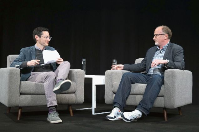 NEW YORK, NY - JUNE 07: WIRED Author Jason Tanz (L) interviews EVP Innovation and Strategic Partnerships at Visa Jim McCarthy onstage at WIRED Business Conference presented by Visa at Spring Studios on June 7, 2017 in New York City. (Photo by Bennett Raglin/Getty Images for Wired)