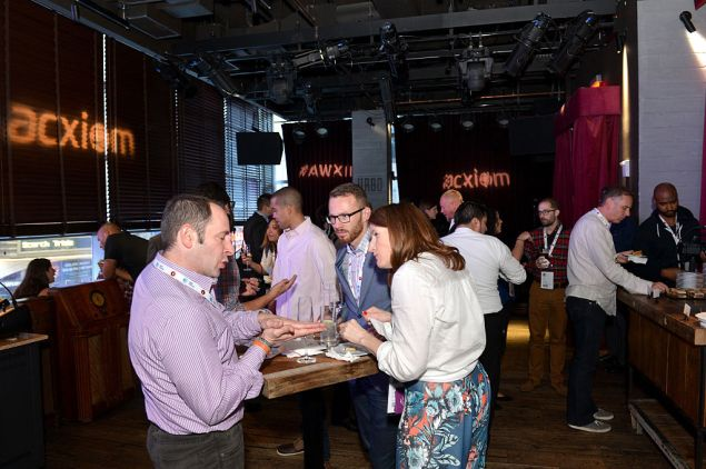 NEW YORK, NY - SEPTEMBER 30: Guests attend the AW Connects: Acxiom Nightly Networking Cocktail party during Advertising Week 2015 AWXII on September 30, 2015 in New York City. (Photo by Slaven Vlasic/Getty Images for AWXII)