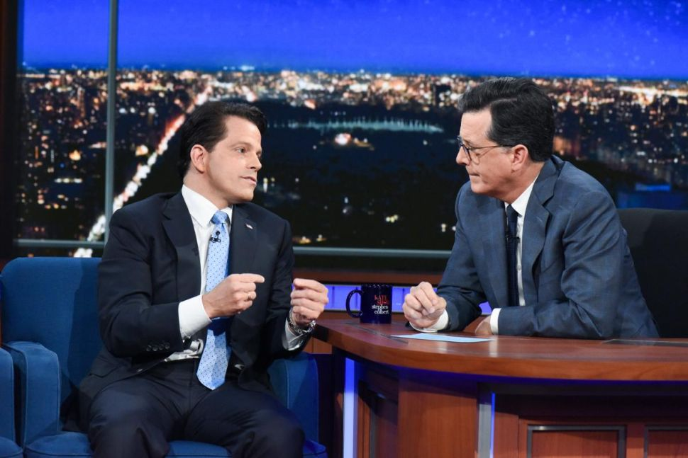 Stephen Colbert Anthony Scaramucci Jimmy Fallon