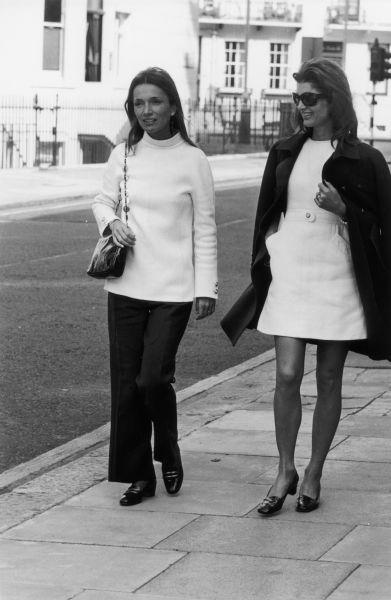 Jackie Kennedy Onassis and Lee Radziwill.