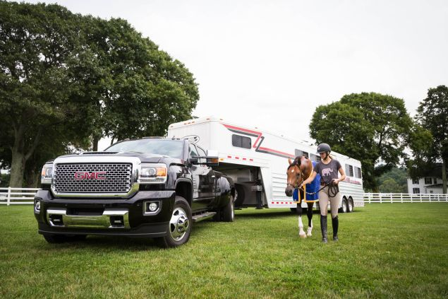 GMC Denali Trucks at the Desiderio Tranquility Horse Farm. Photographed on 11 August 2017. Photo: