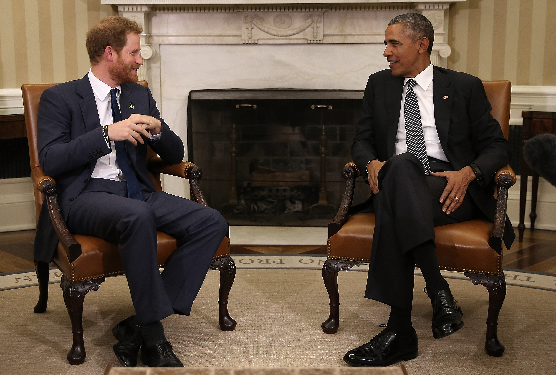 prince harry president obama
