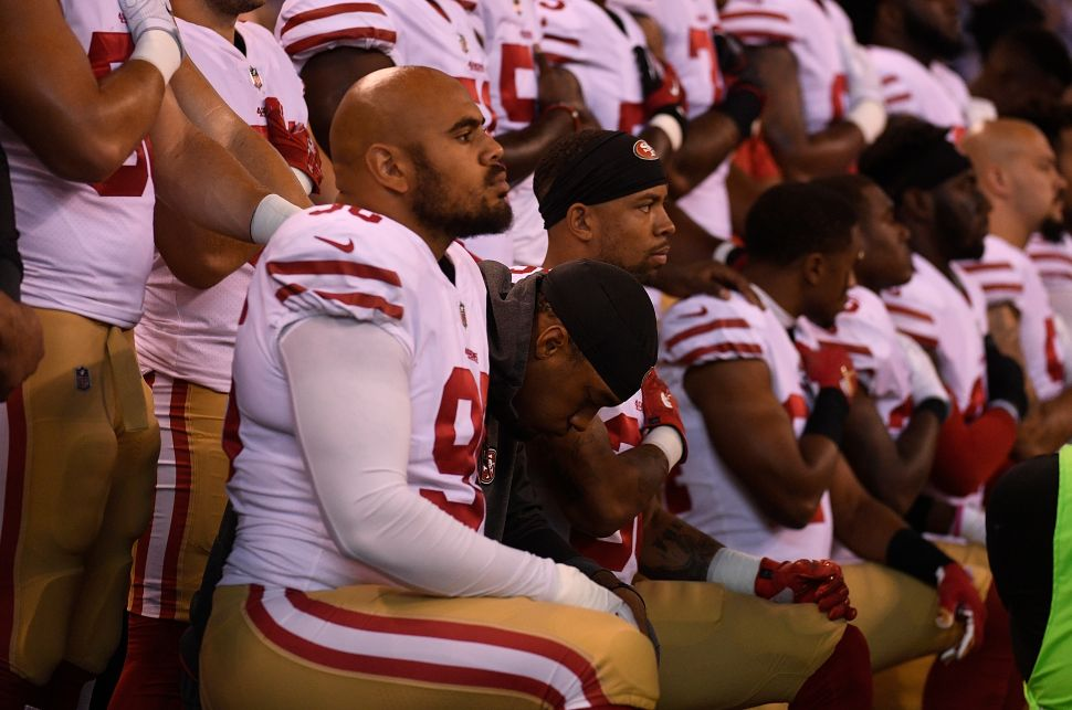 NFL TV Ratings National Anthem Protest