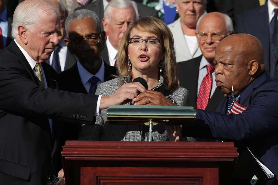 Congresswoman and gun violence victim Gabby Giffords.