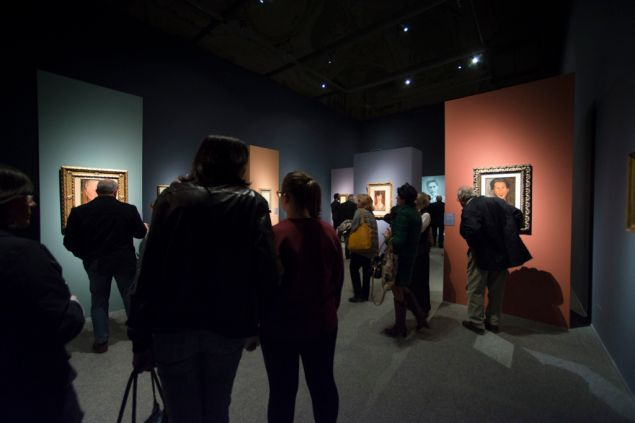 Installation view of Genova Palazzo Ducale's Modigliani exhibition, which will close early due to the number of forgeries found to be exhibited within.
